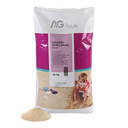 A&G-heute 25kg Spielsand Quarzsand für Kinder Sandkasten Dekosand geprüft gesiebt beige Neue top...