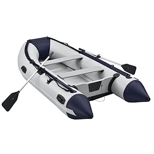 ArtSport Schlauchboot 3,20 m für 4 Personen mit Sitzbank & Aluboden – Paddelboot mit Paddel, Pumpe,...