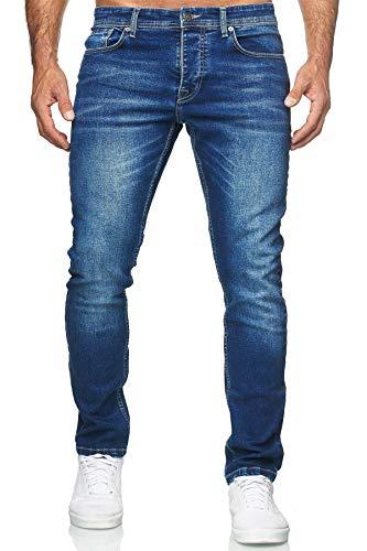 MERISH Jeans Herren Destroyed Hose Jeanshose Männer Slim Fit Stretch Denim 2081-1001 (33-32, 504-1 Blau)