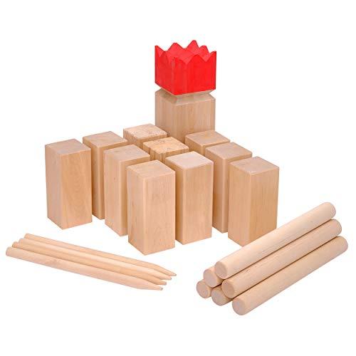 Ocean 5 Original Kubb Competition XXL, Wikinger Spiel, Holz - Birke, Premium Holzspiel aus Massivholz,...