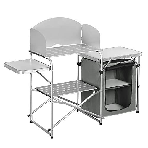 WOLTU faltbar Campingschrank Campingküche inkl.Tragetasche mit Aluminiumgestell Reiseküche...