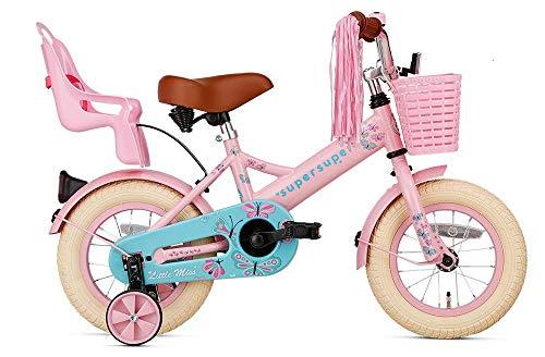 SuperSuper Little Miss Kinder Fahrrad für Kinder   Fahrrad Mädchen 12 Zoll ab 2-4 Jahre  Kinderrad met...