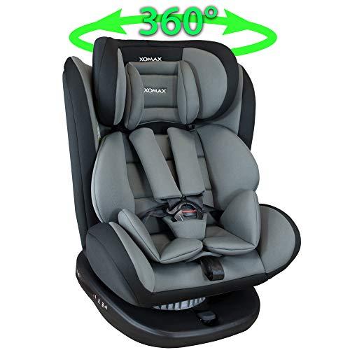 XOMAX 916 Kindersitz drehbar 360° mit ISOFIX und Liegefunktion I mitwachsend I 0-36 kg, 0-12 Jahre,...