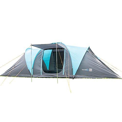 skandika Kuppelzelt Hammerfest für 8 Personen | Campingzelt mit eingenähtem Zeltboden, 2 m Stehhöhe, 2...
