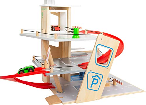 Small Foot 11676 Premium, über 3 Ebenen mit Rampe, Parkhaus für Kinder aus Holz, Rollenspielzeug...