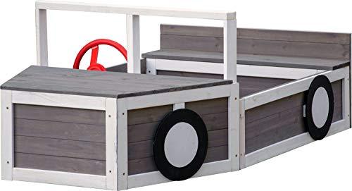 Sandkasten Geländewagen, Buddelkiste in Auto-Form, FSC-Holz, 170 x 97,5 x 63 cm