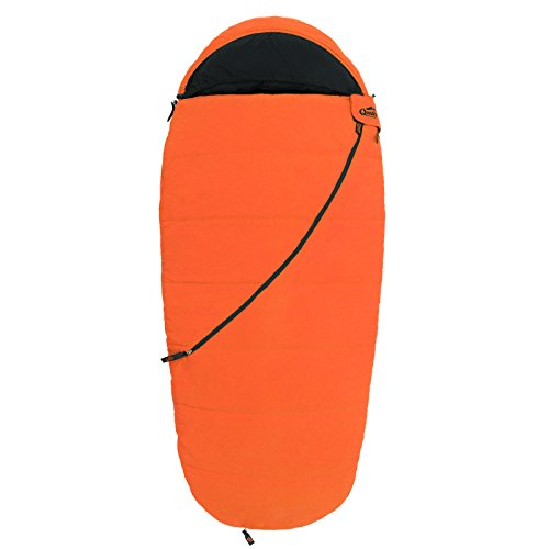 Qeedo Kinder-Schlafsack, Buddy Junior (bis 155 cm Körpergröße) - orange
