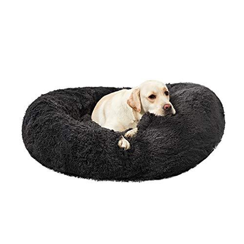 ANWA Waschbar Rundes Hundebett Groß, Donut Hundebett für Große Hunde, weiches Plüsch Hunde...