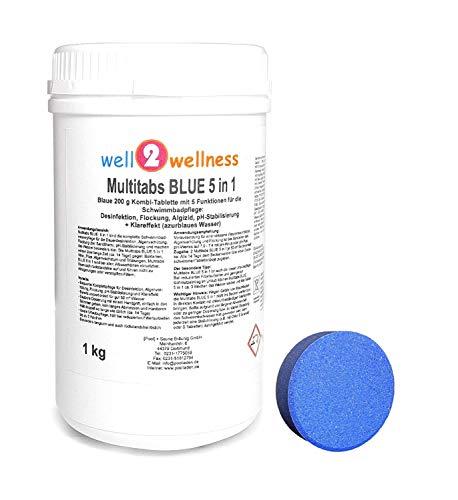 well2wellness Chlor Multitabs Blue 5 in 1 / Blaue Multitabs 5 in 1 200g - 1,0 kg