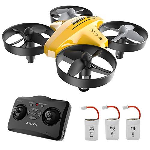 ATOYX Drohne für Kinder, 3D-Flip, Headless-Modus, Höhe Halten, 3 Batterien, EIN-Tasten-Rückkehr,...