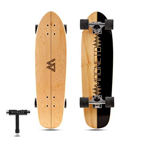 Magneto Mini Cruiser Skateboard Cruiser | Short Board | Canadian Maple Deck - Für Kinder, Jugendliche...