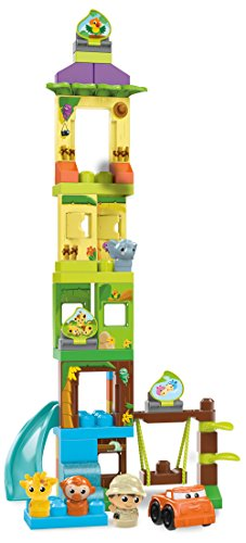 Mattel Mega Bloks DPJ58 Schaukel und Rutsche Safariset