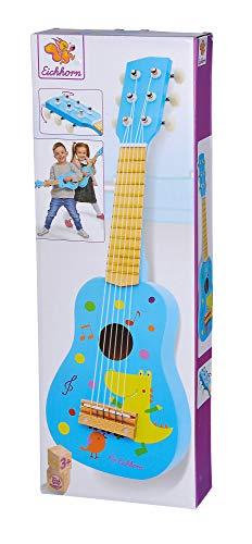 Eichhorn 100003480 Musik Holzgitarre stimmbare Gitarre aus Holz mit sechs Saiten, mit süßem Tiermotiv,...