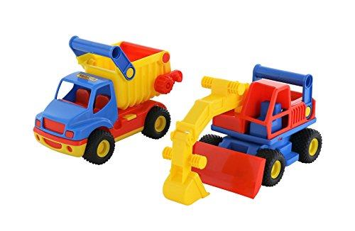 polesie 0452 'ConsTruck Kipper und Bagger Spielzeug