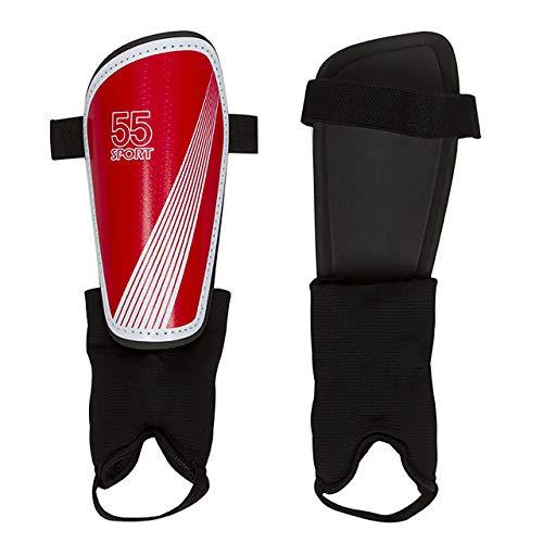 55 Sport Vortex Club Schienbeinschoner mit Knöchelschutz, Rot, Größe S