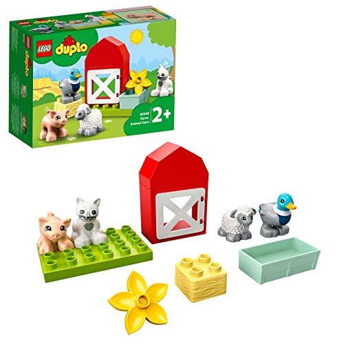LEGO 10949 DUPLO Tierpflege auf dem Bauernhof Kleinkinder Spielzeug ab 2 Jahren mit Figuren: Ente,...