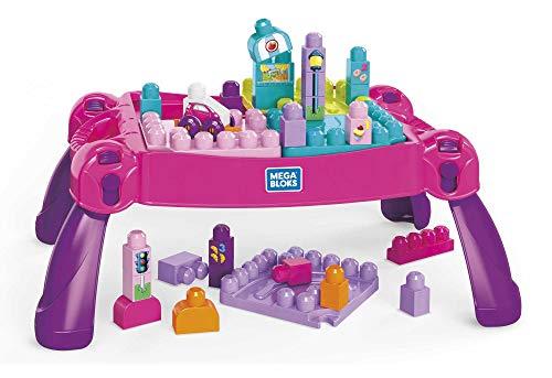 MEGA BLOKS FFG22 - Bau- und Spieltisch rosa, 30 Bausteine, ab 12 Monaten [Exklusiv bei Amazon]