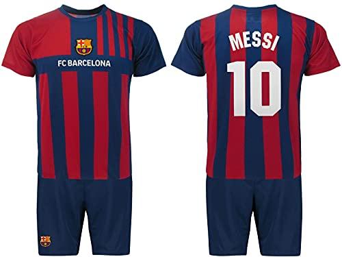 Offizielles Lionel Messi Trikot und Shorts Nummer 10 Trikot Saison 2021 2022 Home Kit Blaugrana,...