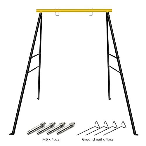 Kinderschaukel Metall Gestell Maximale Belastung 180 kg Kinder Garten Outdoor Komplett Schaukelgerüst...