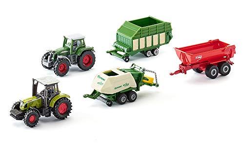 SIKU 6286, Geschenkset 7 - Landwirtschaft, Metall/Kunststoff, Multicolor, Spielkombination, Untereinander...