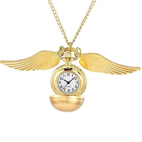 Gorben - Goldener Schnatz Taschenuhr mit Halskette - in Box