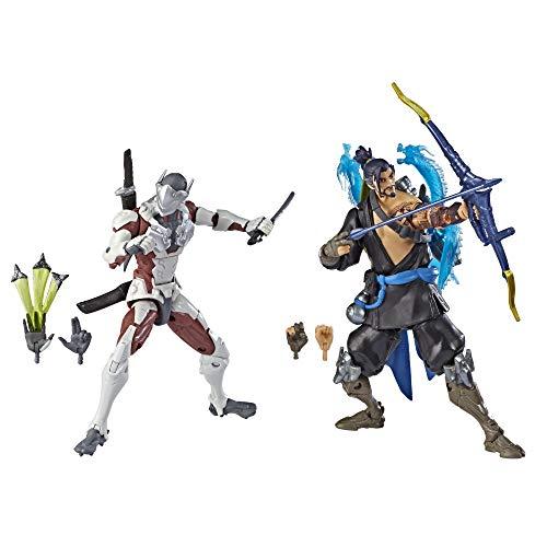 Overwatch Ultimates Series Hanzo und Genji Doppelpack 15 cm große Action-Figuren zum Sammeln mit...