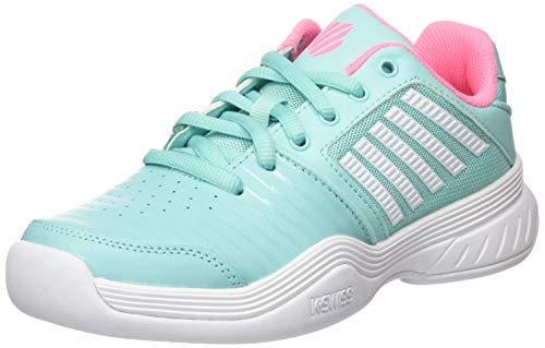 K-Swiss Performance KS TFW Court EXP Carpet SFT PNK/WHT Tennisschuh, Aruba Blue/Soft neon pink/White, 38...