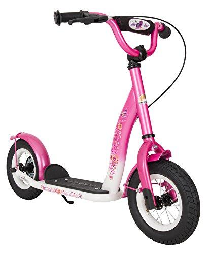 BIKESTAR Roller Kinderroller Tretroller Kickscooter mit Luftreifen für Mädchen ab 4-5 Jahre | 10 Zoll...