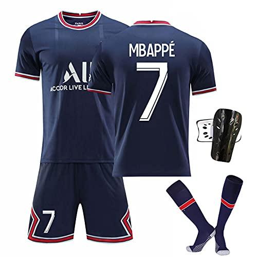 GYLMXF 21-22 Heim-/Auswärtstrikot Nr.7#Mbappé # Nr.10 Neymar # Nr.11 Di María Kurzarmtrikot Shorts Set...