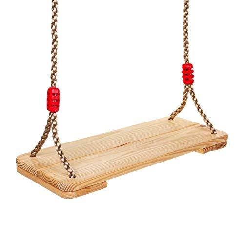 Dripex Holz Schaukel Gartenschaukel für Erwachsene Kinder mit Einstellbares Seil, Indoor und Outdoor...