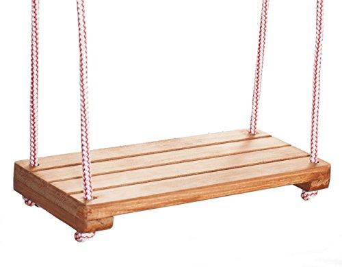 bas Schaukelsitz aus Holz Kinderschaukel Holzschaukel Schaukel für Kinder (Imprägniert)