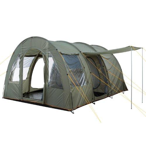 CampFeuer Campingzelt für 4 Personen | Großes Familienzelt mit 3 Eingängen und 5.000 mm Wassersäule |...