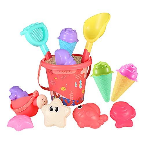 Strand Sandspielzeug Set - Strandspielzeug für Kleinkinder und Kinder, Sandkastenspielzeug mit 6...