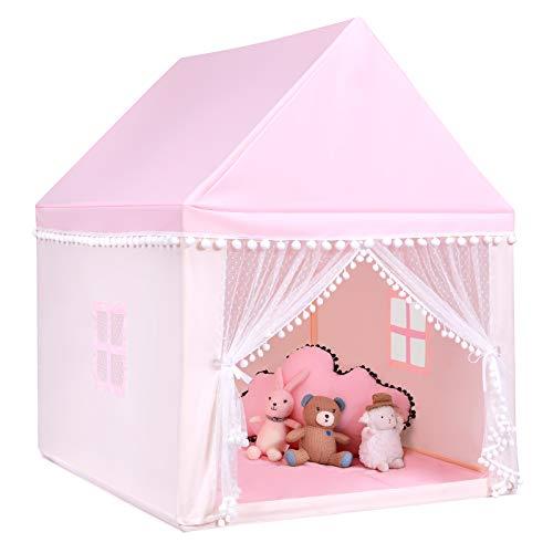 COSTWAY Kinderspielhaus Kinderzelt Spielhaus Prinzess Prinzessin, Kinderspielzelt Stoffzelt mit...