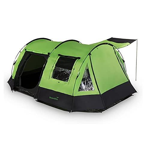 skandika Kambo Tunnelzelt für 4 Personen   Zelt mit Schlafkabine für 4 Mann, Wasserdicht mit 3000...