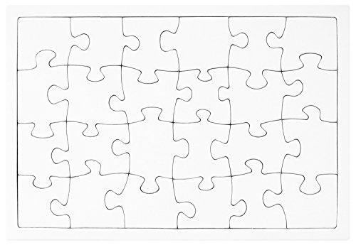 fotopuzzle.de Blanko Puzzle 24 Teile weiß in Premium Qualität Individuell gestalten und bemalen, als...