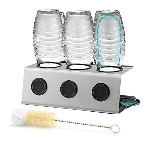 GUANJUNE Premium Edelstahl-Trockengestell für Crystal & Email Soda Stream Flaschen Spülmaschinenfest...