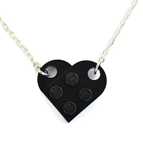 SJP Cufflinks Love Heart Halskette handgefertigt von LEGO® Platten (schwarz) Hochzeit Freundin...