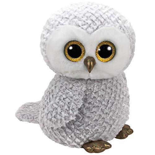 TY Owlette Beanie Boos 36840 Eule mit Glitzeraugen, Grau, 0