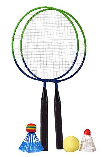 Best Sporting Mini Badminton Set 2 Schläger inklusive Federball, Softball und Schaumstoff-Federball