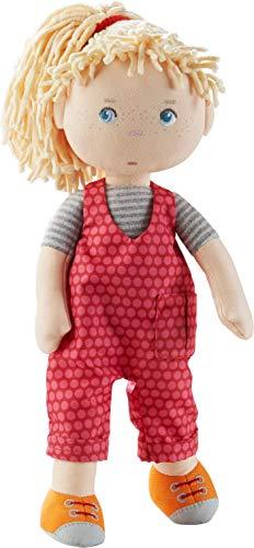HABA 305408 305408-Puppe Cassie, Stoffpuppe aus weichen, waschbaren Materialien mit Latzhose und...
