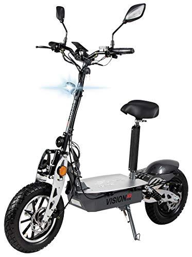 eFlux Vision X2 Elektroroller Scooter - 1500 Watt Motor - Straßenzulassung - 60 Volt Hub-Version - Bis...