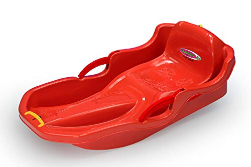 JAMARA 460538 - Snow Play Bob Comfort 80 cm mit Bremse – Lenken durch Bremshebel, aerodynamische...