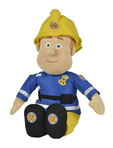 Simba – Feuerwehrmann Sam Plüschfigur, mit Helm, 45cm groß, für Kinder ab 0 Jahren