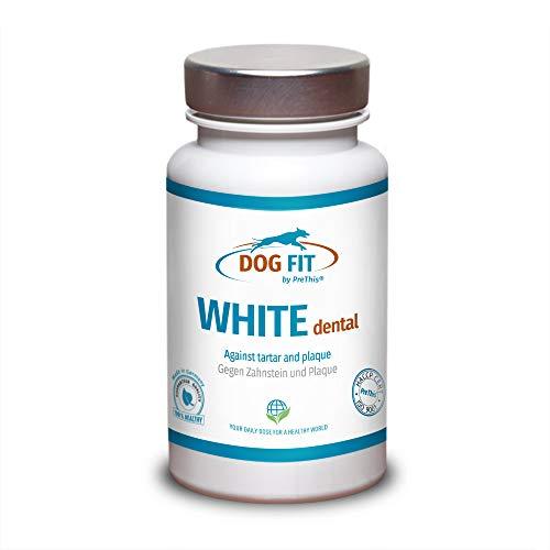 DOG FIT by PreThis® White dental | Zahnsteinentferner Hund | Gegen Zahnstein & Zahnbelag, natürliches...