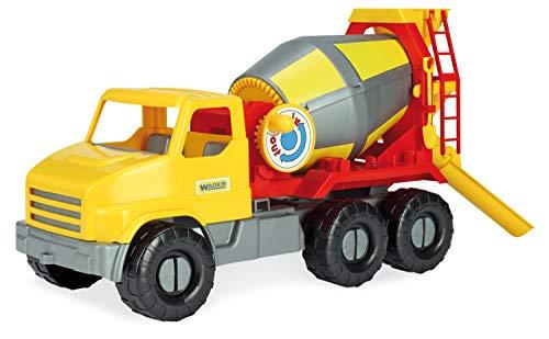 Wader 32606 - City Truck Betonmischer mit drehbarer Mischtrommel, ab 3 Jahren, ca. 50 cm, ideal als...