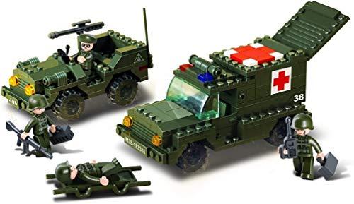 Sluban SL93851, Ambulanzkonvoi (229 Teile) [M38-B6000], Spielset , Klemmbausteine, Soldaten, mit...
