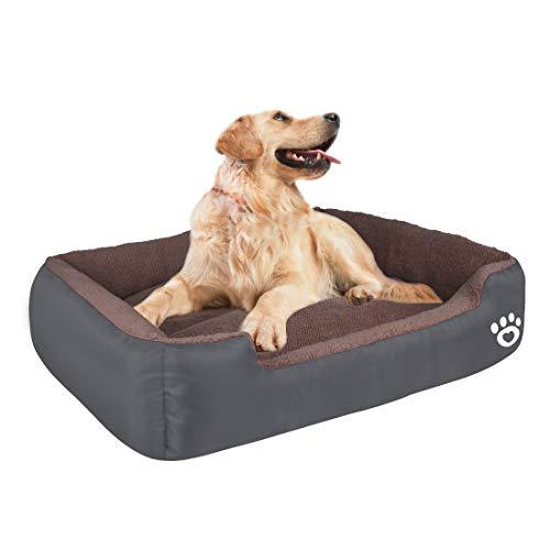 Hundebett für Mittlere und Grosse Hunde, Waschbar Hundekorb ,Weich Hundesofa mit Plüsch,Haustierbett...
