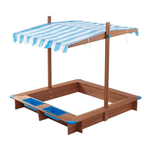 Playland Sandkasten Mit Dach Sandbox Sandkiste Holz Spielhaus UV Schutz Abdeckung