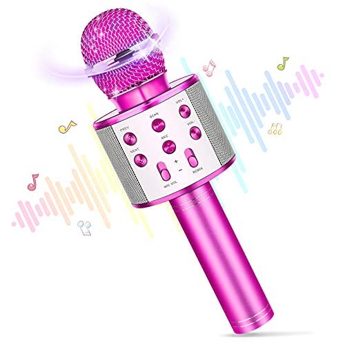 Karaoke Mikrofon Kinder,Spielzeug ab 4 5 6 7 8 9 10 11 12 Jahre Mädchen Geschenk Mädchen 4-12 Jahre...